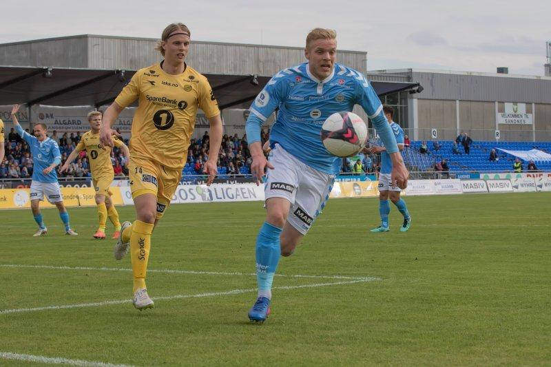 Nielsen og forsvaret holdt nullen sist. Det ønsker han å gjenta i Kristiansand. Foto: Rune Eikeland.