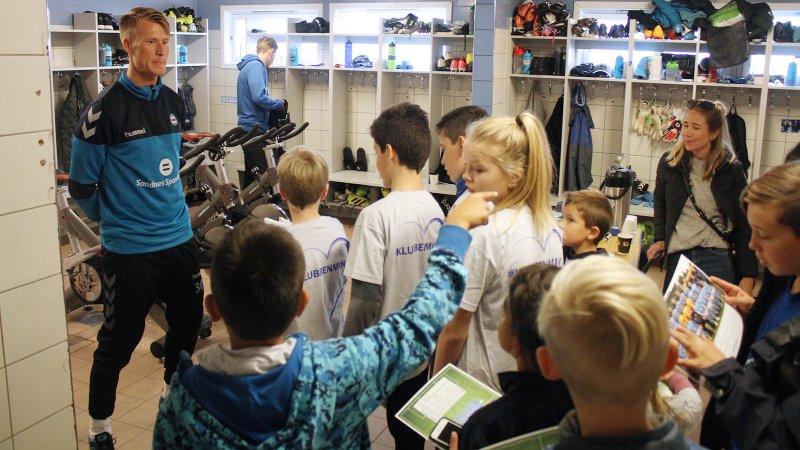 Flere hundre barn tok turen innom Åpen Dag i 2017.
