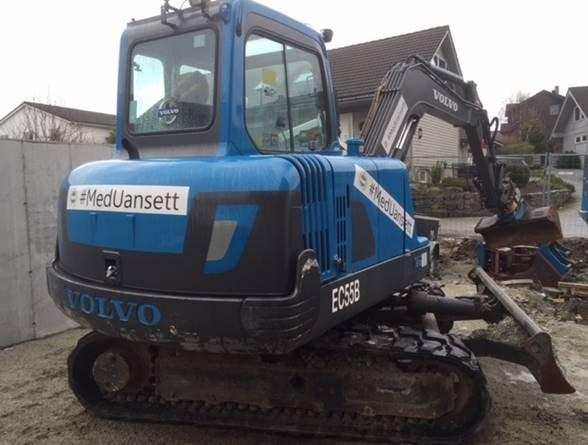 Volvo Maskin Service graver i ekte #MedUansett-ånd.
