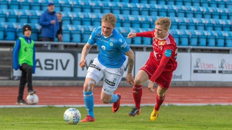 Vegard Aasen endte med 28 obligatoriske kamper for de lyseblå. Foto: Rune Eikeland.