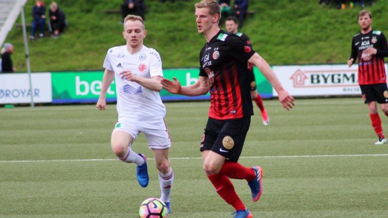 Jonsson beskrives som en rask og skolert venstreback. Foto: hb.fo.