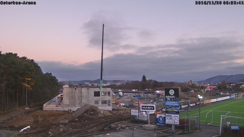 Slik ser Øster Hus Arena ut den 20. november 2018. Foto: Osterhusarena.no