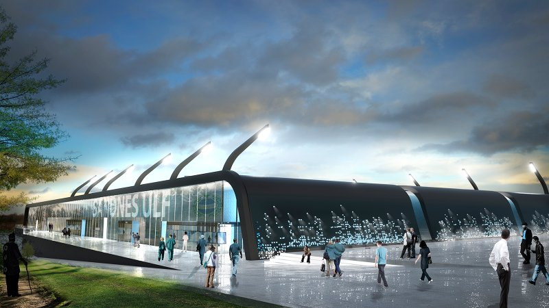Øster Hus Arena blir også et arkitektmessig fantastisk bygg.